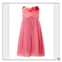 Wholesale 2014 Europe and America summer new girls flower jacquard dress girl luxury star models 6pcs/lot
