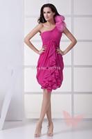 Fashion Mini Shoulder prom dress.