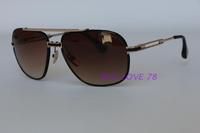 2015 oculos de sol metal sun glasses DRX2049B double beam large sunglasses for women