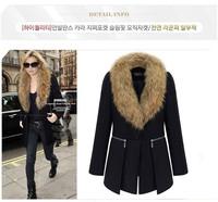 New 2014 Jacket Women Winter Coat Thicken Slim Female Raccoon Fur Collar And Long outerwear Women Parka Winter Coat Plus
