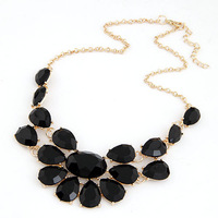Fashion Drop Imitation Gemstone Jewelry Statement Collar Necklaces for Women Jewelry Gifts 2014