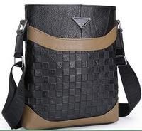 2015 new men bags Real genuine leather men's briefcase business men's messenger bag shoulder bag ipad small men's travel bags