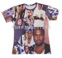 2015 New high quality Women's Men's Short Sleeve T shirt Fashion Kanye 3D t shirt S M L XL XXL