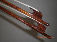 2 PC Nice Quality Strong Balanced Baroque CELLO Bow 4/4 Snake wood bow