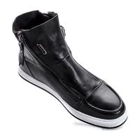 2014 men autumn/winter suede genuine leather ankle boots platform cowboy fashion boots for men sports double zipper shoes 6699
