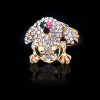 New Fashion jewelry Wholesale Top quality 18K gold filled Austrian Crystal cute Frog Toad finger ring gift for women girl R1306