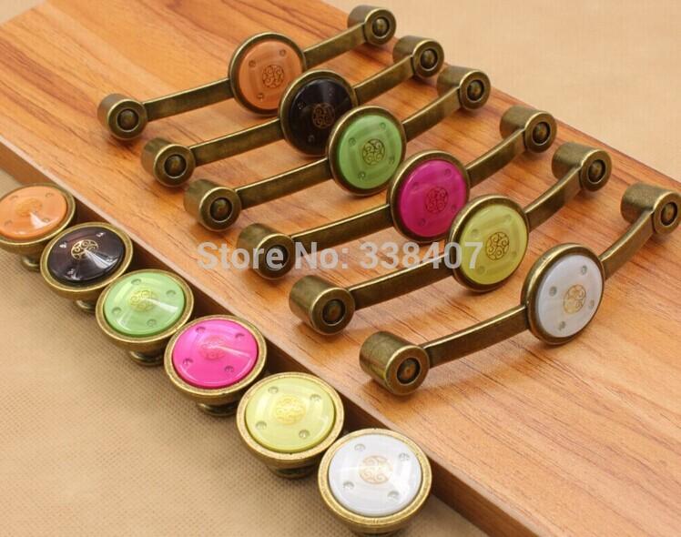 vintage puxadores de móveis vintage botões de cristal do armário e alça