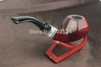 HOT NEW Mens Durable Wooden Pipe Hexagonal 9mm Old mahogany tobacco pipes tobacco filter element Doo (1 pcs/lot)