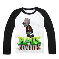 Plants vs . zoombies autumn long-sleeve T-shirt plants vs zombies children's clothes
