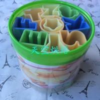 26pieces/sets 26pcs english alphabet cookies mold DIY turn sugar cake mould