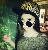 Korean fashion trends in Tokyo wild leopard baseball cap flat along, Wholesale hats for men and women. Free shipping!