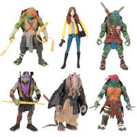 2014 teenage mutant Ninja Turtles movie Ninja Turtles hand do 6 family model toys 6pcs a lot