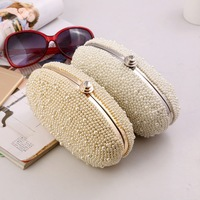 New arrival Oval pearl day clutch evening bag banquet bag bridal mini bag with chain 50012