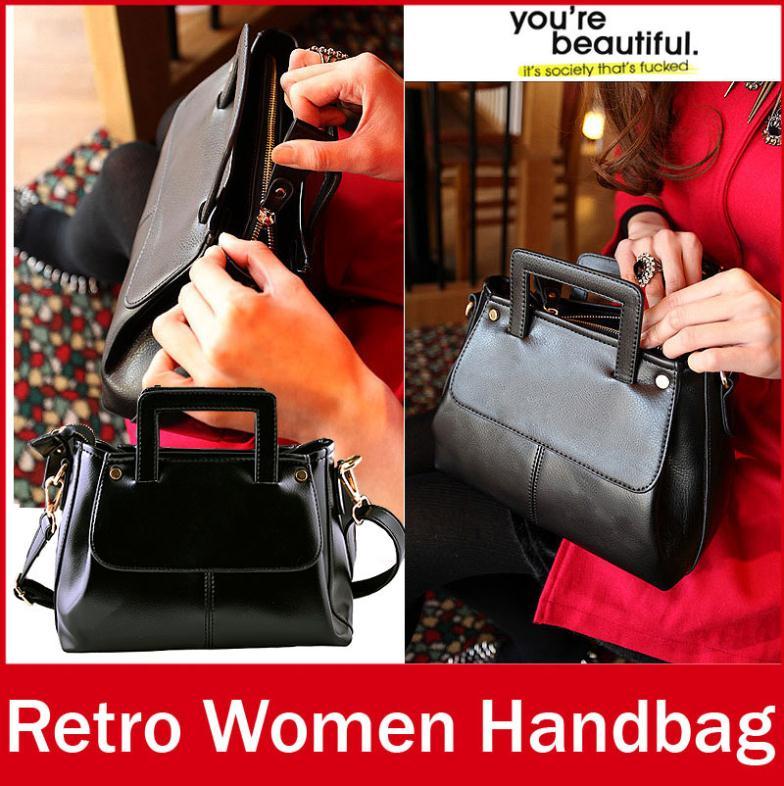 Ladies Women Brand Vintage Style Mini Handbags Casual Zipper PU Leather Hand Tote Bag For Female Girls