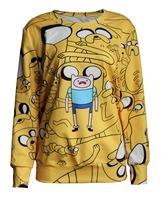 [Amy]Casual winter adventure time sweatshirt 3d galaxy cartoon hoodies Women men cute feminino Harajuku pullover clothes