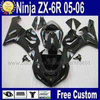 7 gifts Road  motorcycle fairing body kits for kawasaki ninja 2006 2005 ZX 6R ZX6R 636 05 06 ZX-6R gloss black repair fairings