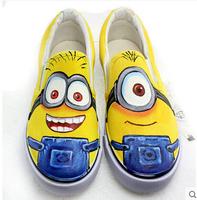 Small yellow man shoes new children's canvas shoes men cartoon shoes women shoes size 24-43