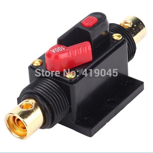 À prova d ' água 100 uma Car Audio em linha circuito fusível disjuntor para proteção do sistema 100A 12VDC(China (Mainland))