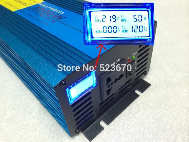 3000W 6000W peak DC 12V to AC 220/230/240V Off Grid Pure Sine wave Solar inverter 3000 watt power inverter LCD Display(China (Mainland))