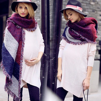 2014 autumn and winter fashion scarf thermal bevatrons thickening vintage faux cape moben yarn scarf muffler female
