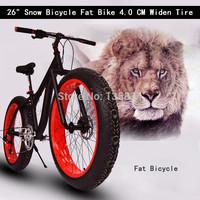 """8 Speeds 26"""" x17 Super Wide Flat Tire 4.0 Beach Bicycle Fat Bike Aluminium Alloy Frame Mountain Terrain Fat Snow Bicicleta Bike"""
