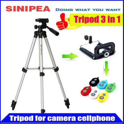 3 in1 Tripod Tripod leg remote controller Tripod head mini camcorders Camera len hood Photo Studio