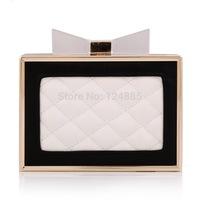 New arrival Ladies' fashion hasp clutch bag diamond lattice handbag coin purses for women lady bow evening bags 50015