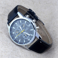New Fashion Leather Band Sport Men Women Analog Quartz Wrist Watch Unisex Dress Wrist Watch