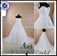 RSW444 Flat Shoulder Front Short Long Back Lace Edged  Aliexpress Wedding Dresses