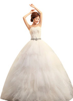 Princess Sweetheart Feathers Strapless Ball Gown Bride Wedding Formal Dress HS164-63