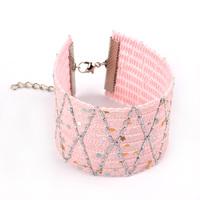 2pcs Wide weave Chain Bracelets & Bangles Women's 17.5*4 cm 2015 New Jewelry Promotion Leather Bracelet  SL188