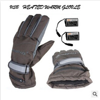 3.7V Professional Motorcycle Winter  USB Heated warm Gloves Electronic Charger  Battery Heated Gloves Skiing Skating Gloves