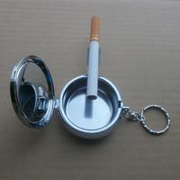 50pcs/lot 53*20mm blank metal round ashtray mini portable ashtray creative gift DIY