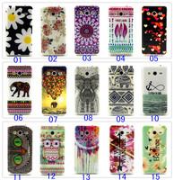 50pcs Beautiful Owl Elephant Bird flowers Pattern TPU Back Case for Samsung Galaxy Core II G355 G355H G3559 G3556D 15 Styles