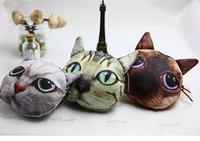 Fashion girl cute animal cartoon cat face coin change purse zipper case wallet cat mini bag retail or mix wholesale