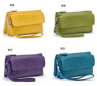 The new 2015 leather handbag aslant small bag  cluth bag W019