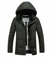 FREE SHIPPING casual coat men winter jackets down-jacket  white duck down coat cotton coats men parka men  face jacket vestidos