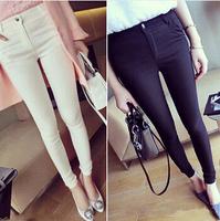 New Fashion Women Sexy Cotton Slim Pencil Pants/Casual pants/ Black/White Long Elastic Skinny Pants Trouserse Autumn/Winter