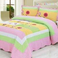 2015  good quality colorful prewash bedcover patchwork quilt set