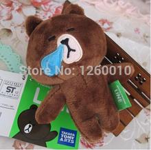 2015 new height 11cm Brown bear cute rabbit plush doll(China (Mainland))