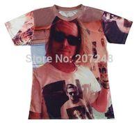 2015 New high quality Women's Men's Short Sleeve T shirt Fashion Sunglasses men Print 3D t shirt S M L XL XXL