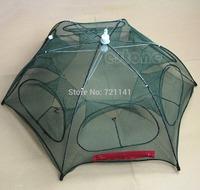 J34 Free Shipping Hot New Portable Folded Fishing Fish Trap Net Mesh Baits Cast Shrimp Minnow Crab