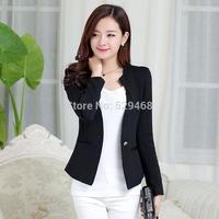 2014 autumn slim short design women's blazer outerwear long-sleeve short design plus size suit