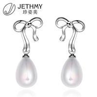 Fashion Pearl Earrings Jewelry Cute Bowknot Stud Earrings for Women