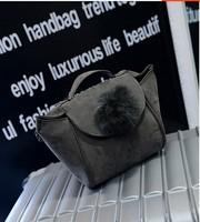 2015 Fashion Women's leather handbags scrub smiley bag messenger bags shoulder bag l1483