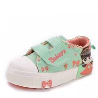 2015 new arrival spring children shoe baby soft outsole toddler baby canvas shoes gentle cute children sneakers lovely size18-23