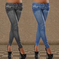 Hot Sale Women Jeans Pants High Waist Pocket Sexy Tattoo Leggings Female Printed Casual Sports Denim Skinny Trousers