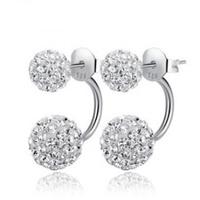 Luxury Austriz Crystal Beads Earring,Free Shipping 925 Sterling Silver Jewelry Earring Studs OE92