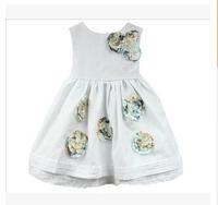 Wholesale cati brand summer new girls flower vest dress children princess dress 6pcs/lot