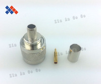 10PCS/lot Free Shipping Coaxial radio frequency (rf) N male to RG8X LMR240 wire connector